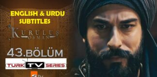 Kurulus Osman Episode 43 English & Urdu Subtitles Free of Cost